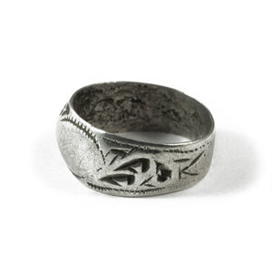 Engraved Silver Ring