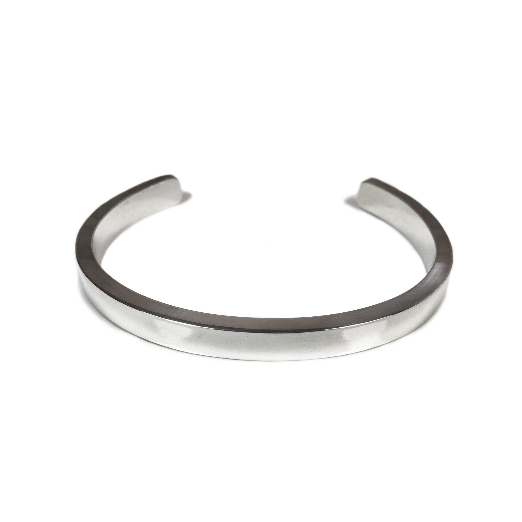 Polished Thick Rectangle Cuff