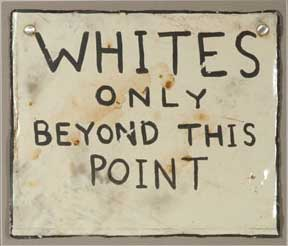 Whites Only Wall