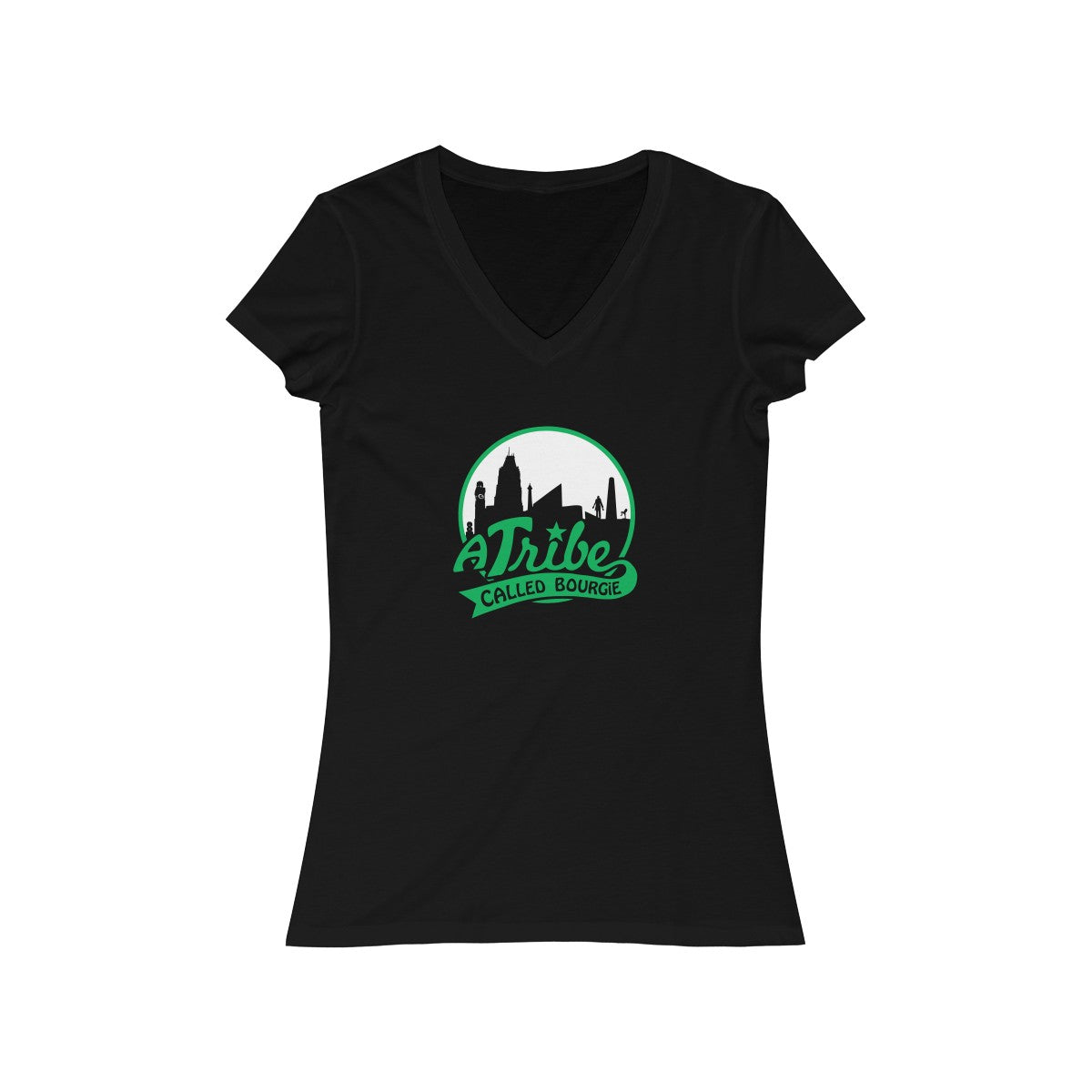 AKA - ATCB Women's Jersey Short Sleeve V-Neck Tee black