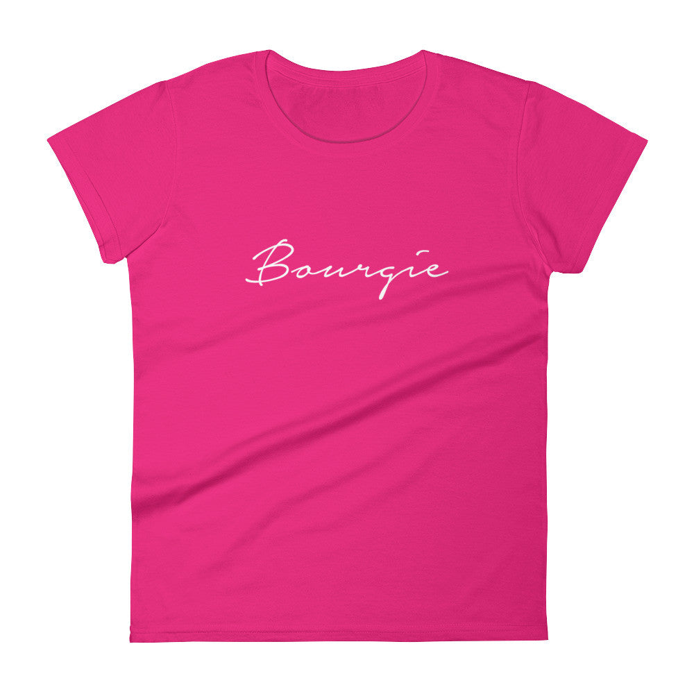 Women's Bourgie t-shirt hot pink