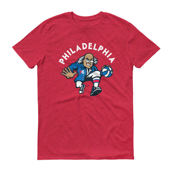 76'ers t-shirt heather red