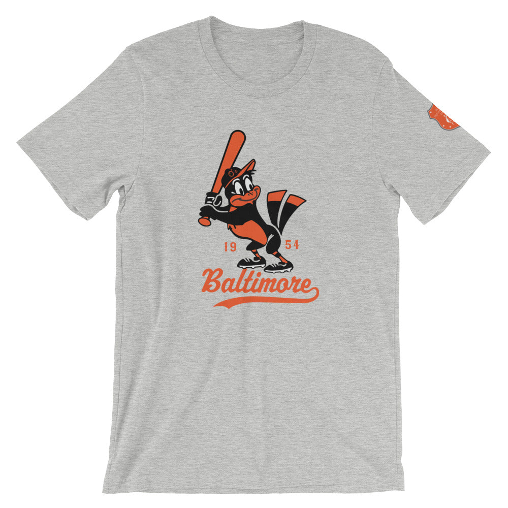 Vintage Baltimore O's Short-Sleeve Unisex T-Shirt athletic heather