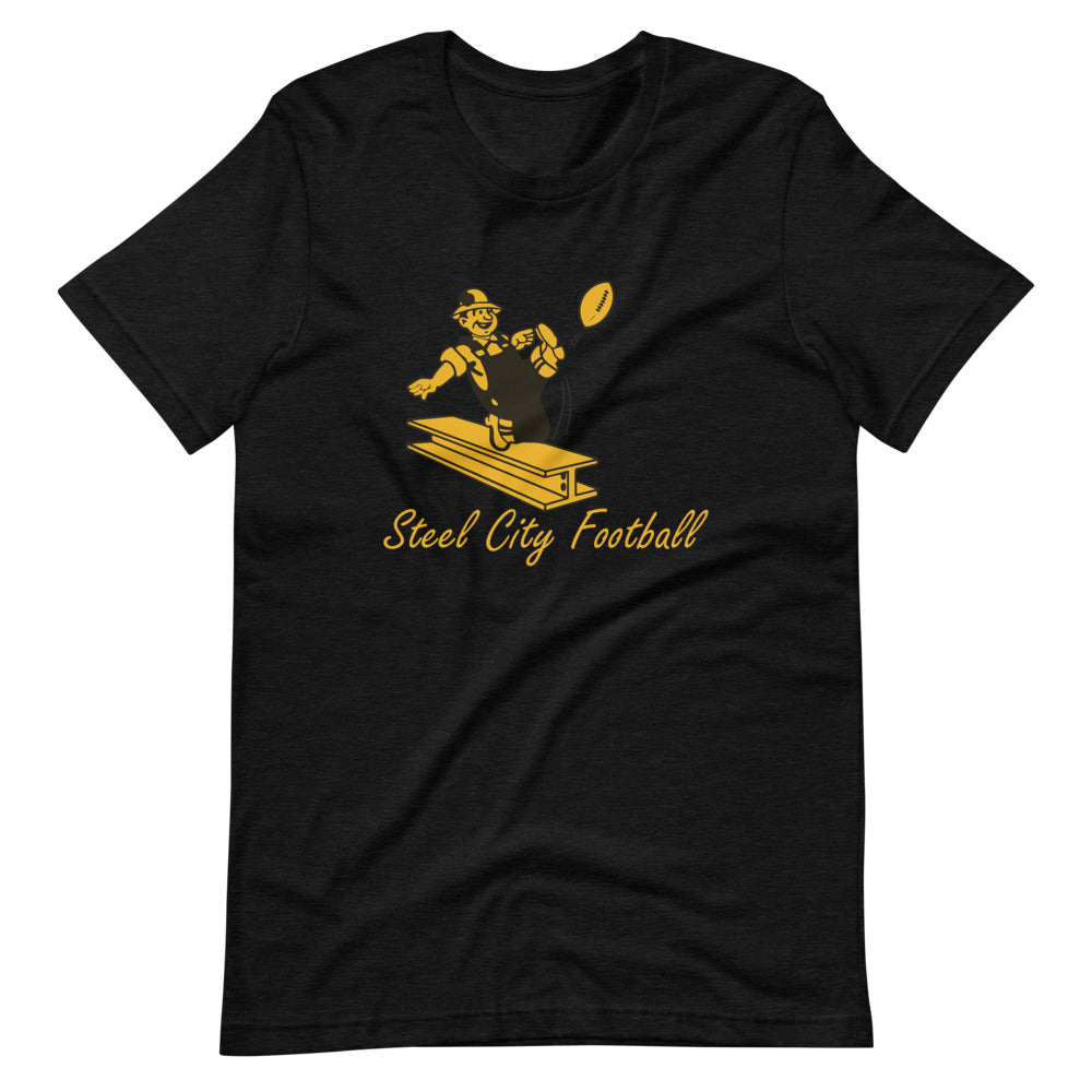 Steel City Football Short-Sleeve Unisex T-Shirt black heather