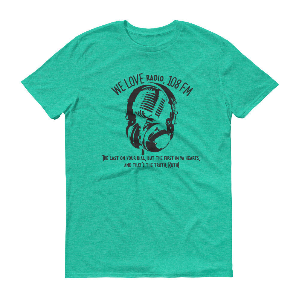 We Love Radio t-shirt heather green