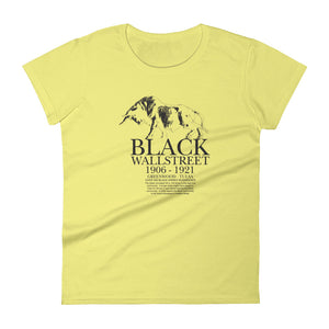 Women's Black Wall Street short sleeve t-shirt Spring Yellow