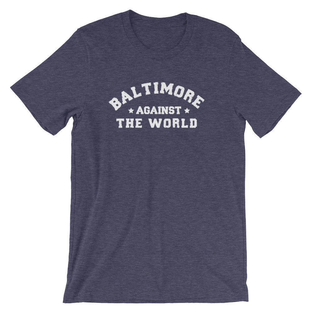 Baltimore Against The World t-shirt heather midnight navy
