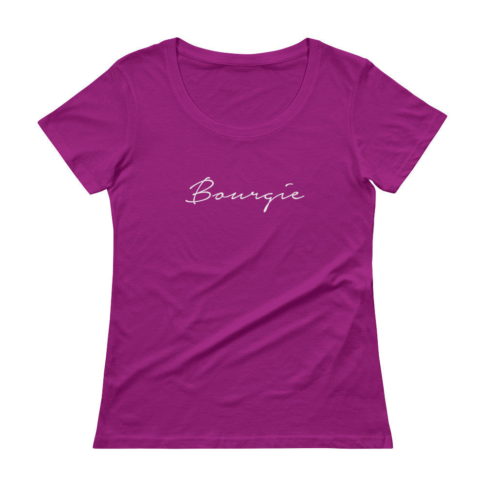 Bourgie Ladies' Scoopneck T-Shirt Raspberry