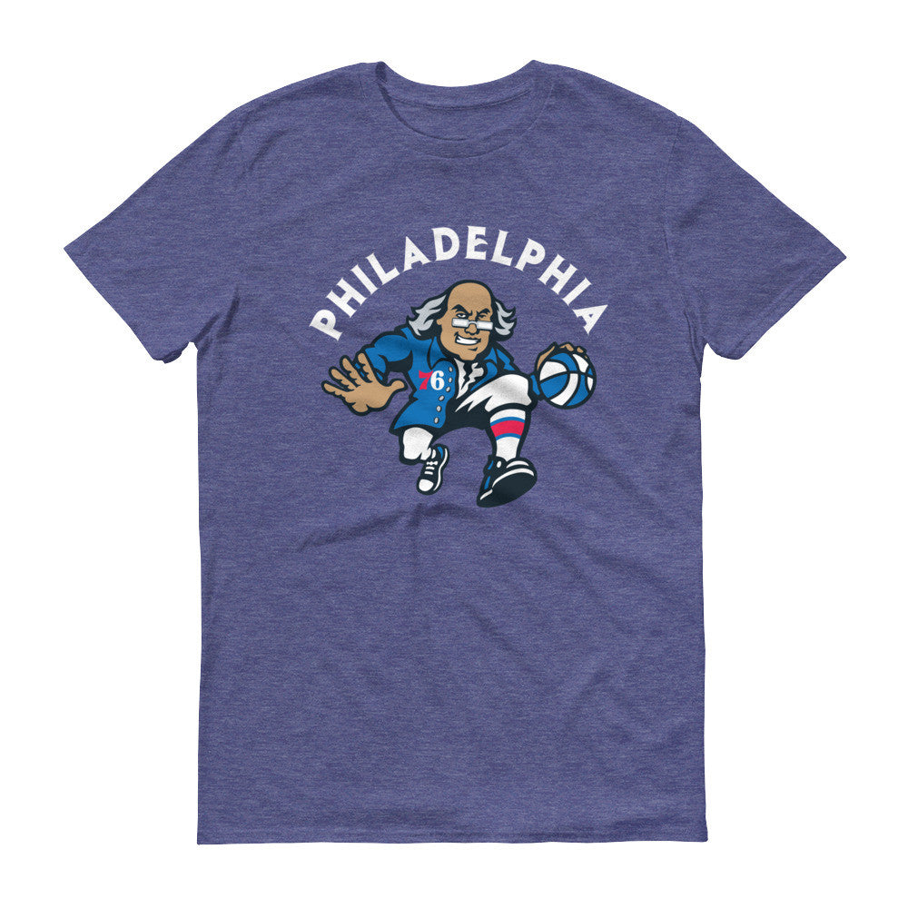 76'ers t-shirt heather blue