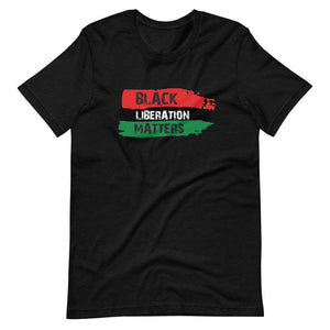 Black Liberation Short-Sleeve Unisex T-Shirt heather black