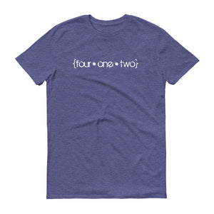 Four One Two t-shirt heather blue