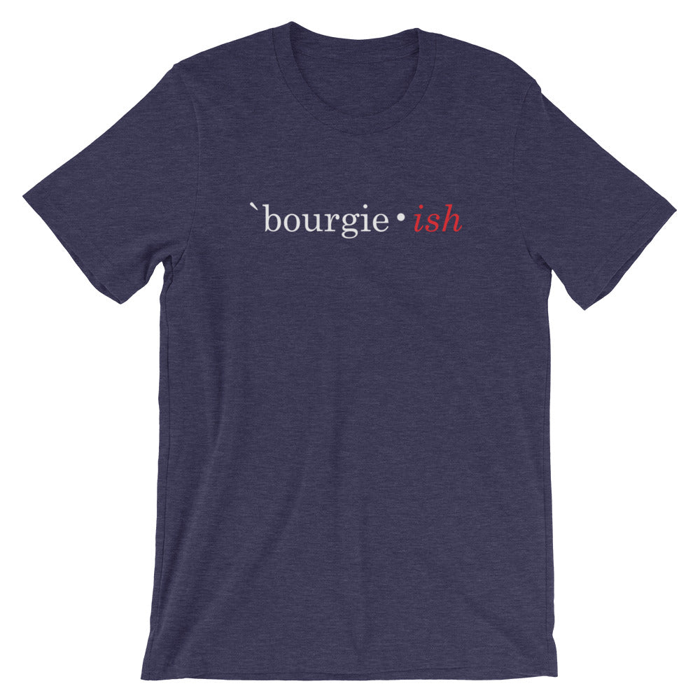 Bourgie • ish Short-Sleeve Unisex T-Shirt heather midnight navy