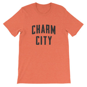Charm City t-shirt heather orange