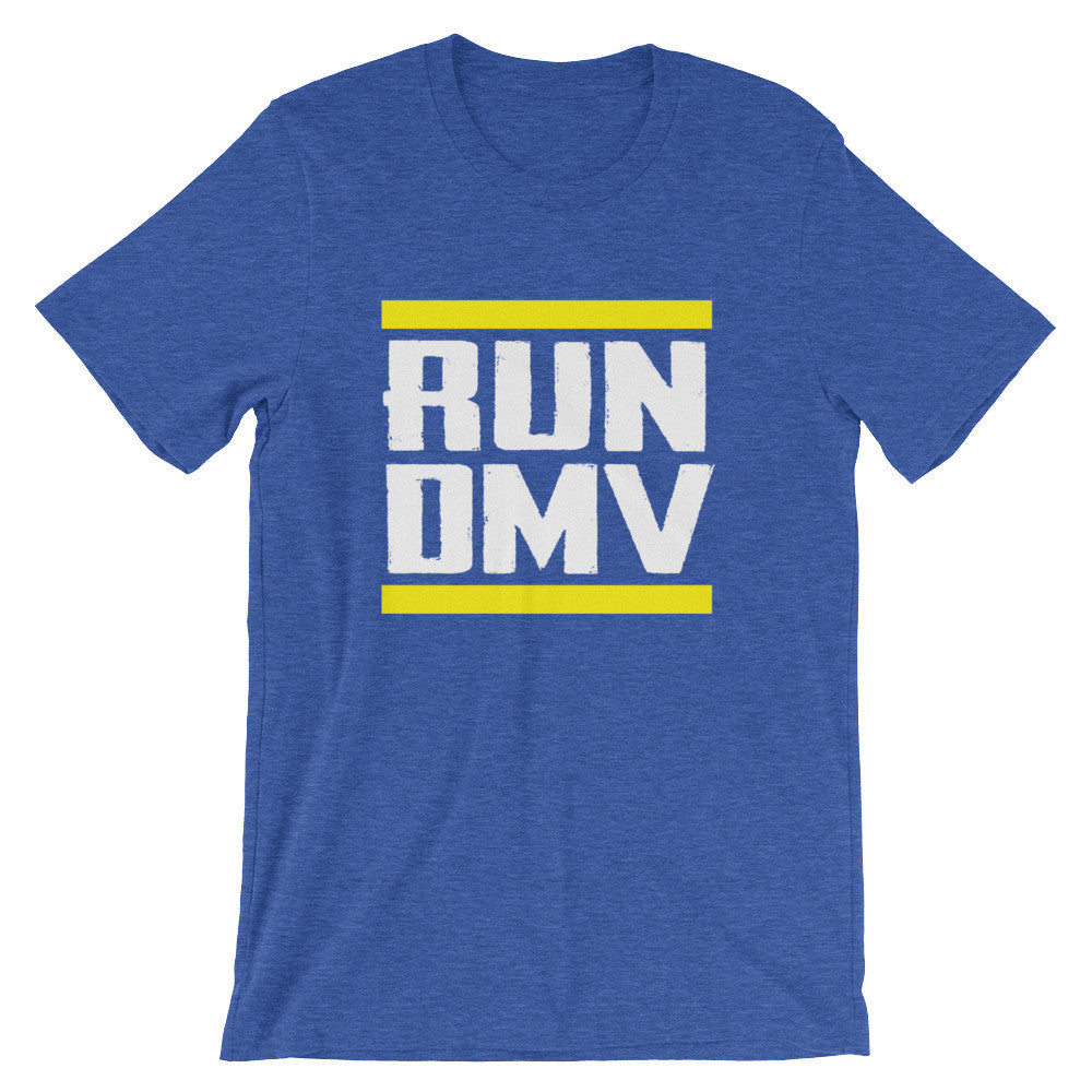 Run DMV t-shirt heather royal blue