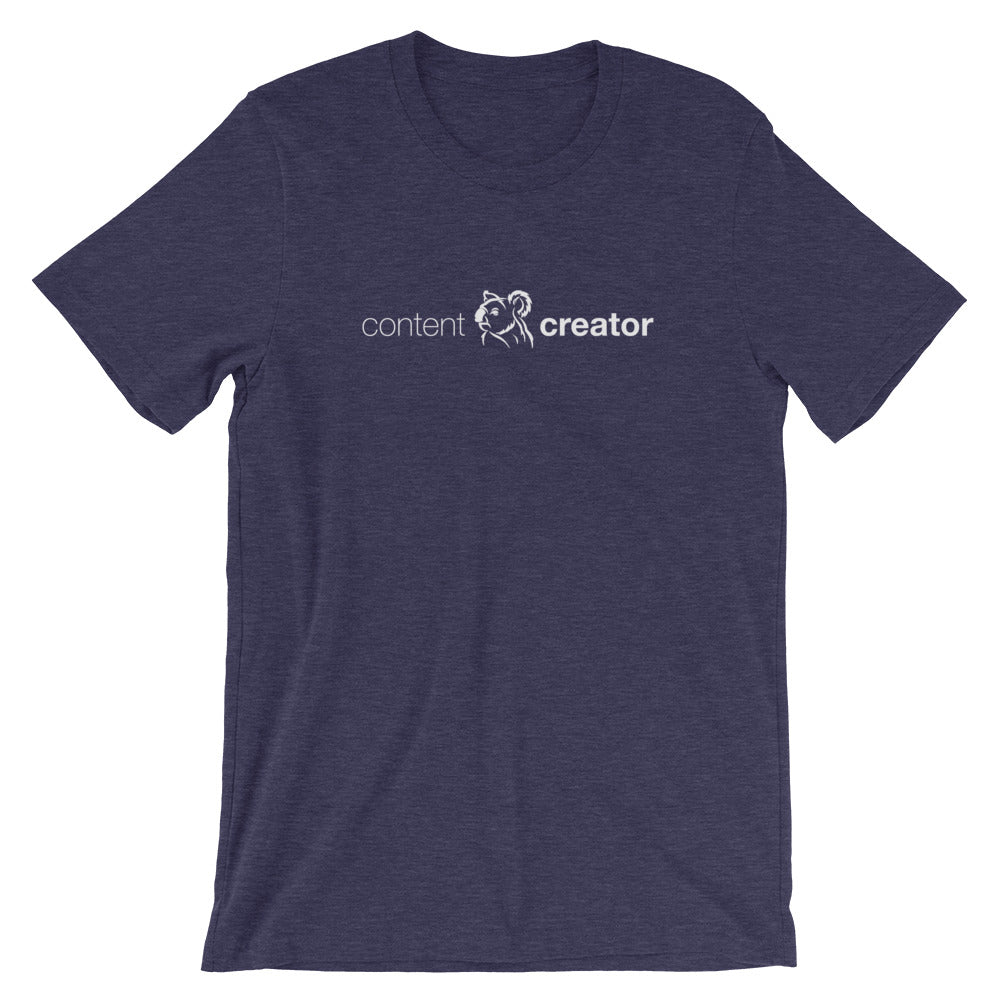 Content Creator Short-Sleeve Unisex T-Shirt midnight heather navy