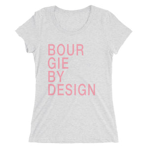Ladies' Bourgie by Design short sleeve t-shirt white fleck triblend