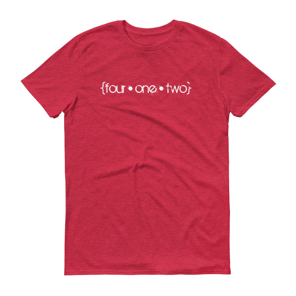 Four One Two t-shirt heather red