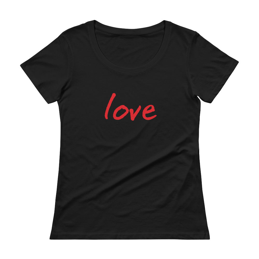Bourgie Love Ladies' Scoopneck T-Shirt white