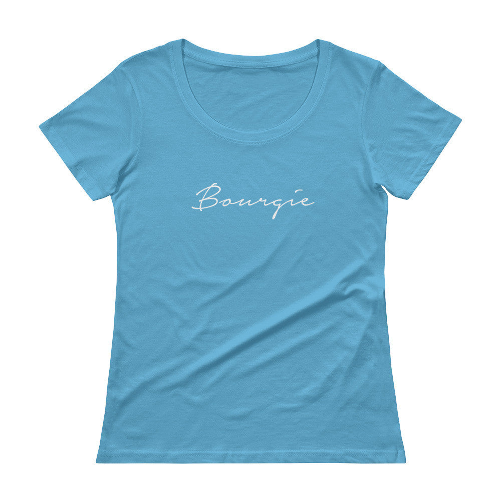 Bourgie Ladies' Scoopneck T-Shirt Caribbean Blue