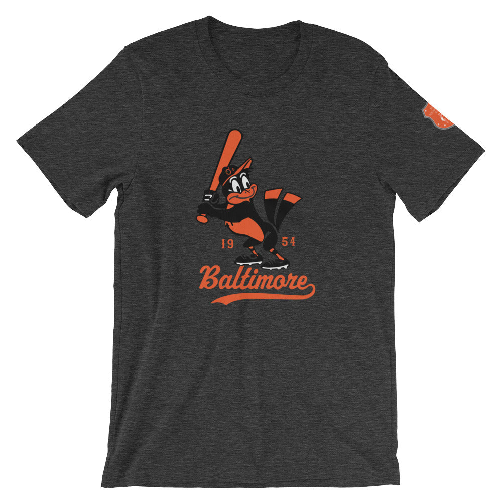 Vintage Baltimore O's Short-Sleeve Unisex T-Shirt black heather