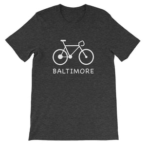 Bike for Baltimore t-shirt dark grey heather