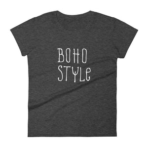 Women's Boho Style t-shirt heather dark grey