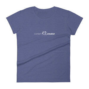 Women's Content Creator short sleeve t-shirt heather blue