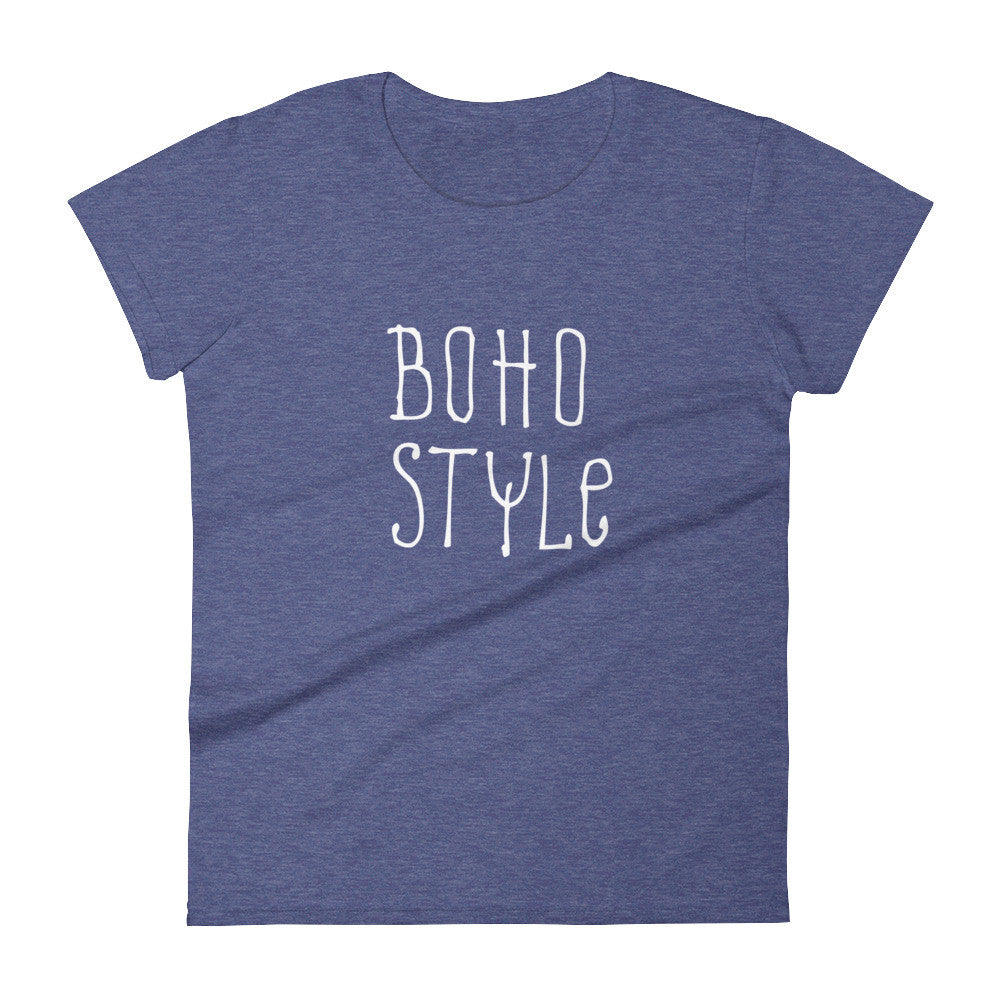 Women's Boho Style t-shirt heather blue