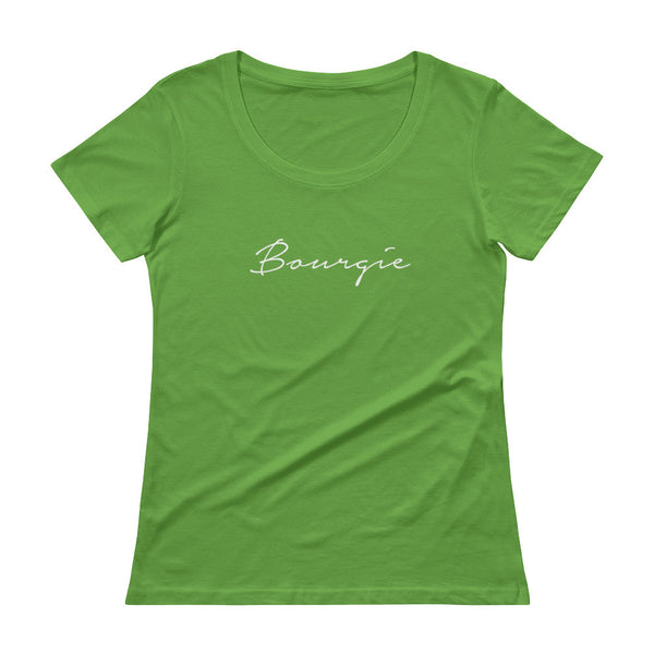 Bourgie Ladies' Scoopneck T-Shirt Green Apple