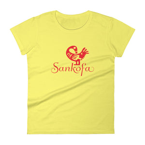 Sankofa short sleeve t-shirt spring yellow