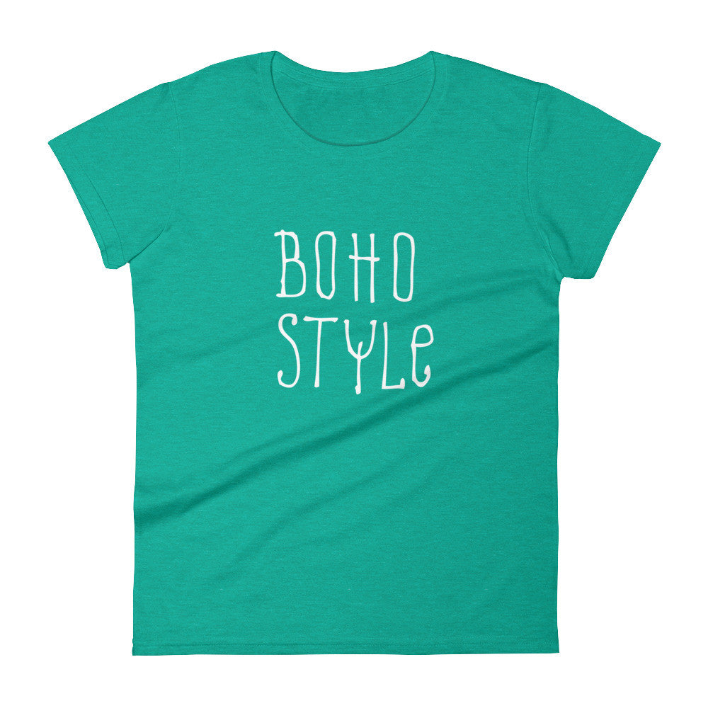 Women's Boho Style t-shirt heather green