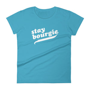 Stay Bourgie Women's short sleeve t-shirt caribbean blue