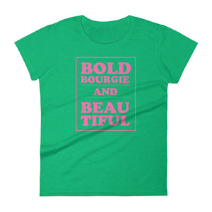 Bold & Bourgie Women's short sleeve t-shirt heather green