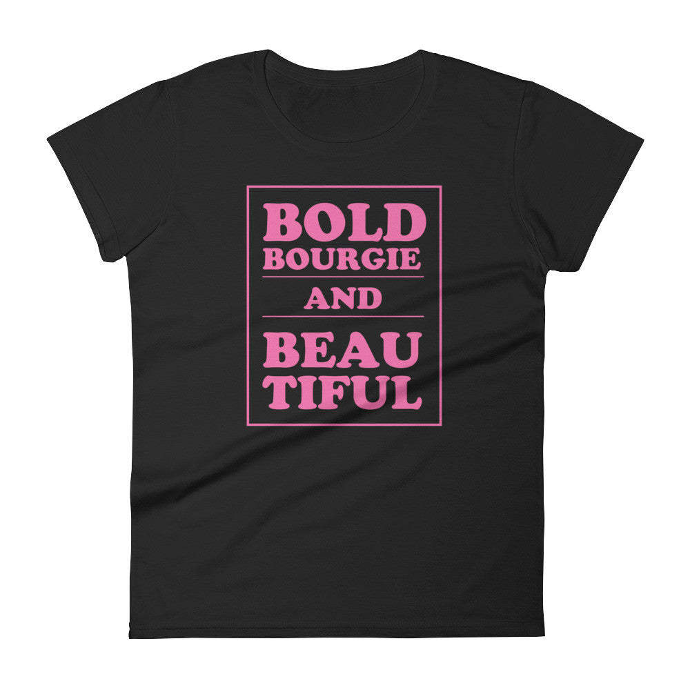 Bold & Bourgie Women's short sleeve t-shirt black