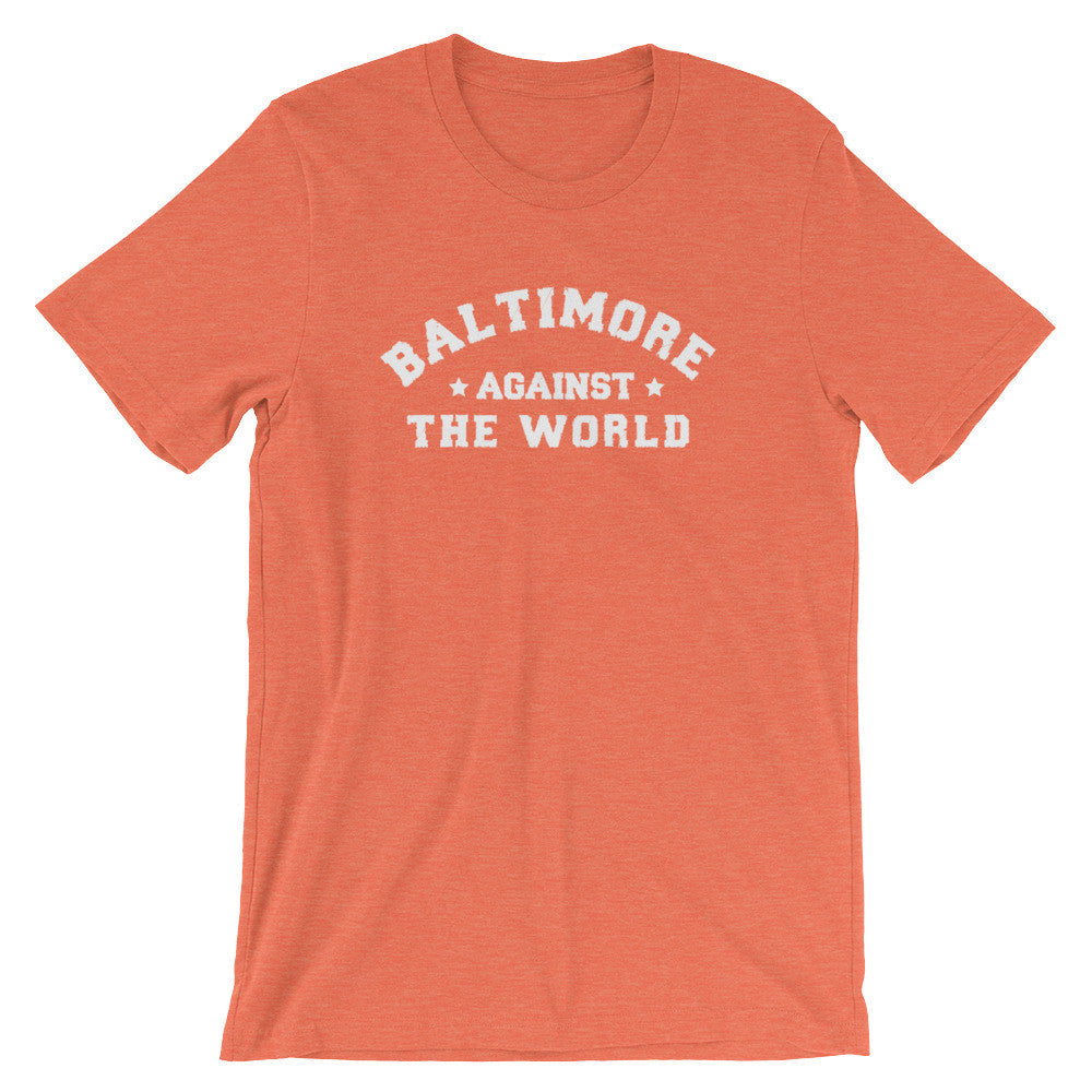 Baltimore Against The World t-shirt heather orange