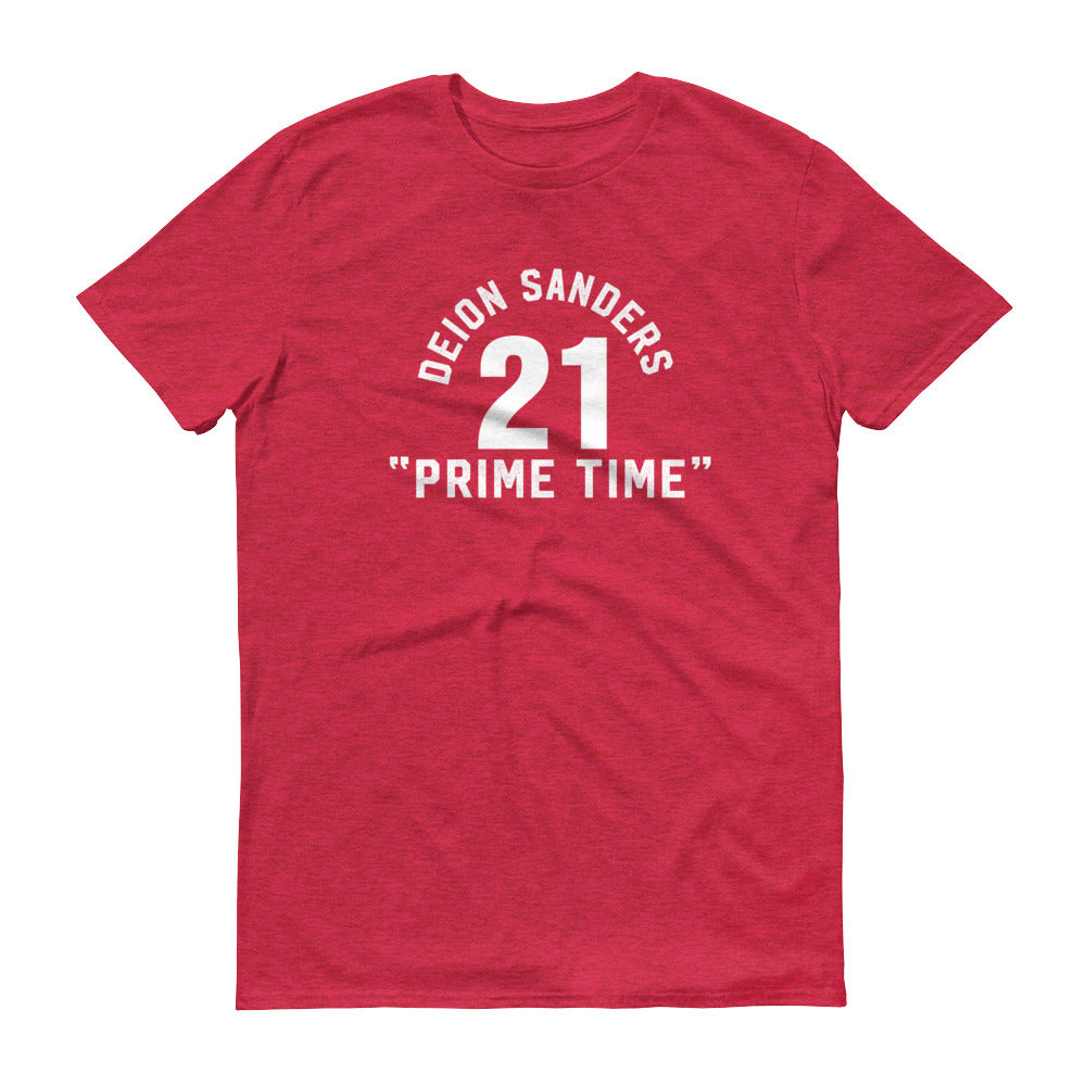 Prime Time Short-Sleeve T-Shirt heather red