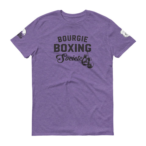 Bourgie Boxing Societe Short-Sleeve T-Shirt heather purple