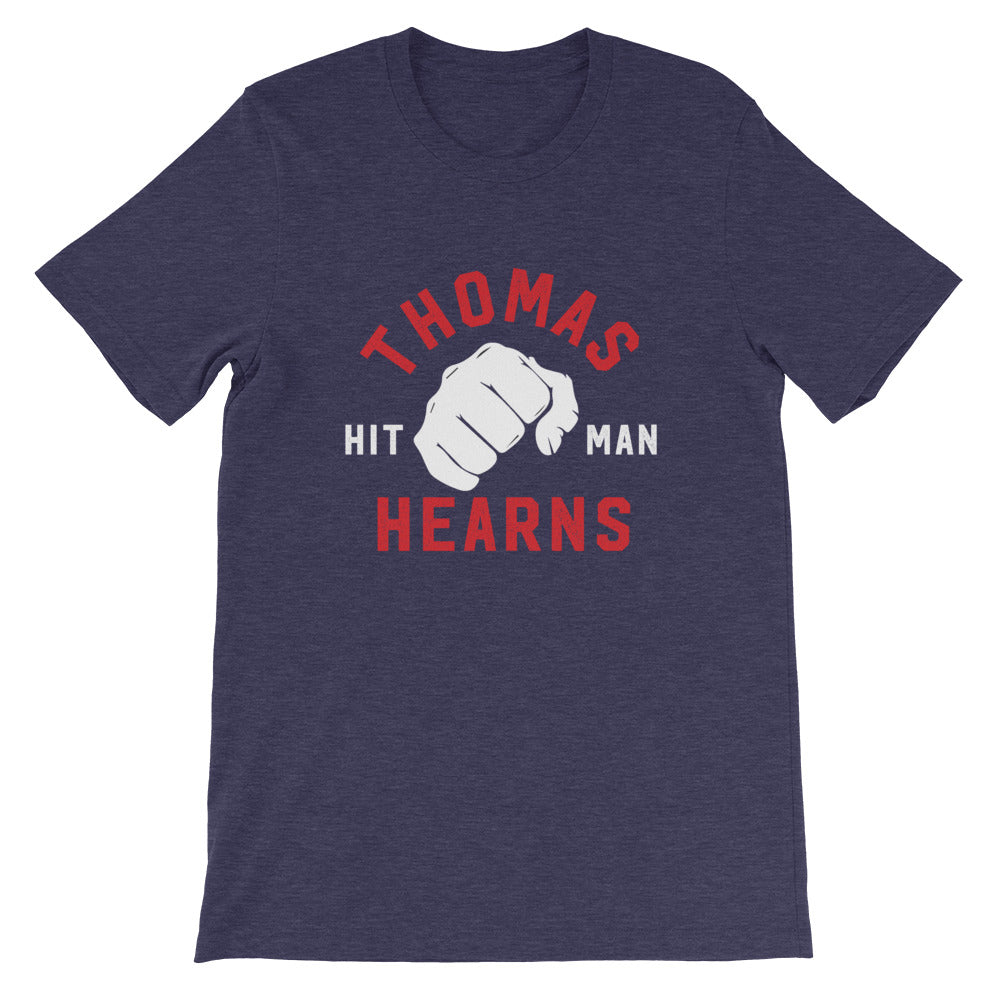 Limited Edition Tommy Hearns Short-Sleeve Unisex T-Shirt heather midnight navy