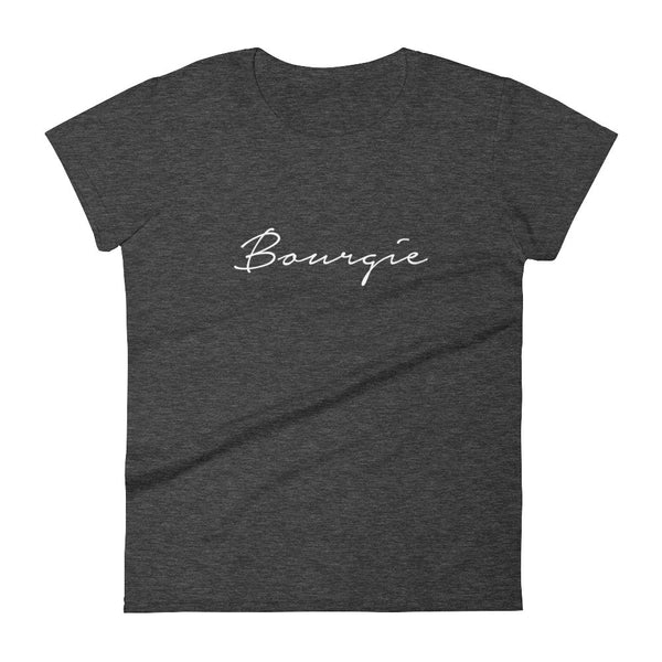 Women's Bourgie t-shirt heather dark grey
