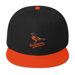 Baltimore Baseball - Wool Blend Snapback