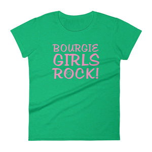 Bourgie Girls Rock Women's short sleeve t-shirt heather green