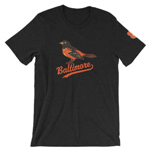 Baltimore O's Short-Sleeve Unisex T-Shirt Black Heather