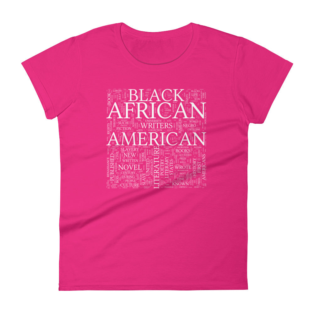 Black Lit Women's short sleeve t-shirt hot pink