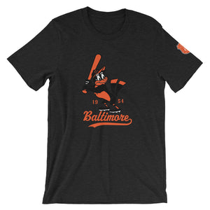 Vintage Baltimore O's Short-Sleeve Unisex T-Shirt dark heather grey