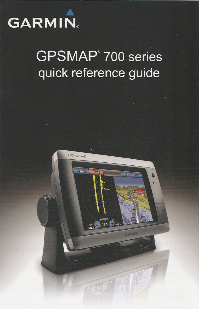 Garmin 190-01155-01 Quick Reference Guide for GPSmap 700 series
