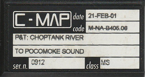[USED] C-Map C-Card M-NA-B405.06 P&T Choptank River to Pocomoke Sound 21-Feb-2001 sn 0912