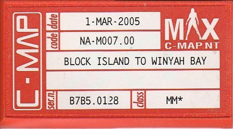 [USED] C-Map NT mAx C-Card M-NA-M007.00 Block Island to Winyah Bay 1-Mar-2005 sn B7B5.0128