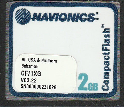 [USED] Navionics Gold CF/1XG All USA and Northern Bahamas v03.22 2010 sn 000000221828