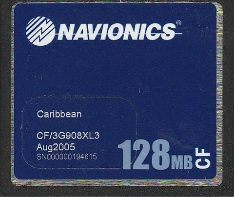 [USED] Navionics Gold CF/3G908XL3 Caribbean Aug 2005 sn 000000194615