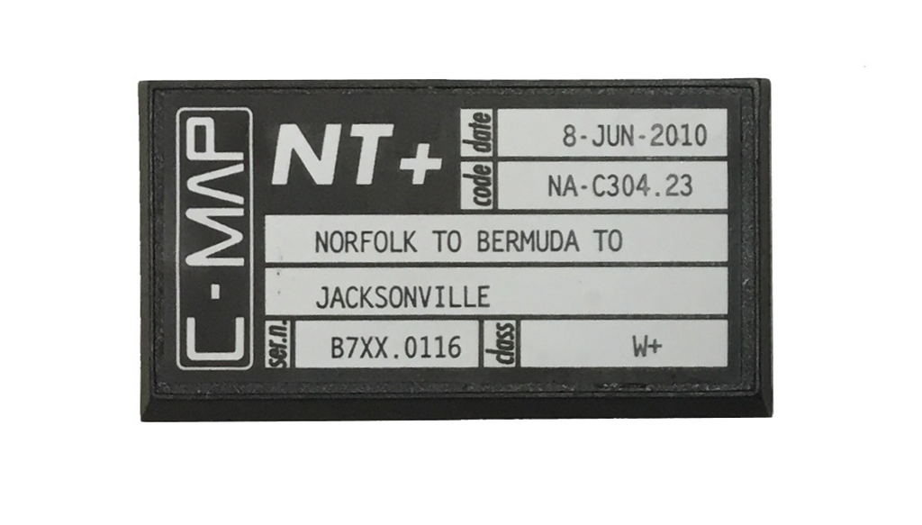 [USED] C-Map NT+ C-Card NA-C304.23 Norfolk to Bermuda to Jacksonville 8-Jun-2010 sn B7XX.0116